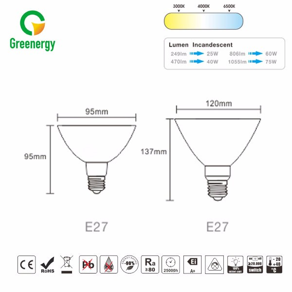 High quality CE RoHS approval plastic waterproof projection RGB led par light
