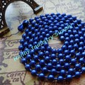 2.4mm Metal Bead blue necklace Chain
