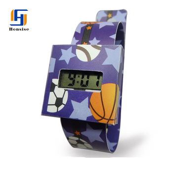 Promotion Cheap Recyclable Lcd Paper Promotion Watch