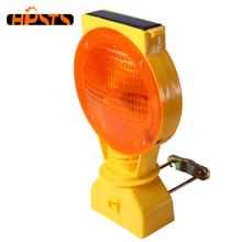 Red light-senstive portable beacon road solar warning light