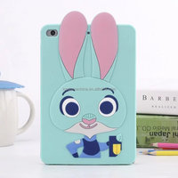 Judy Bunny 3d Silicone case For ipad 2 3 4 Rabbit Case