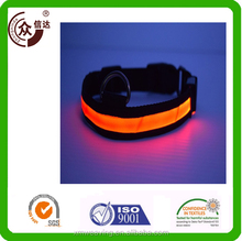 manufactory custom nylon LED dog collar& leash wholesale