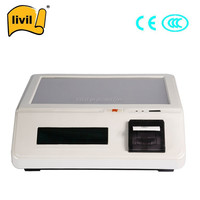 15 Inch Hot Cheap Android Electronic Cash Register With Thermal Receipt Printers together touch screen pos