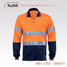 Excellent Quality Low Price reflective safety polo shirt
