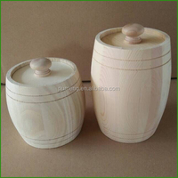 Small Mini Wooden Honey Barrels Storage Containers