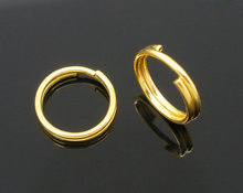 Custom Gold Plated Double Loop Split Open Jump Rings 8mm Dia.