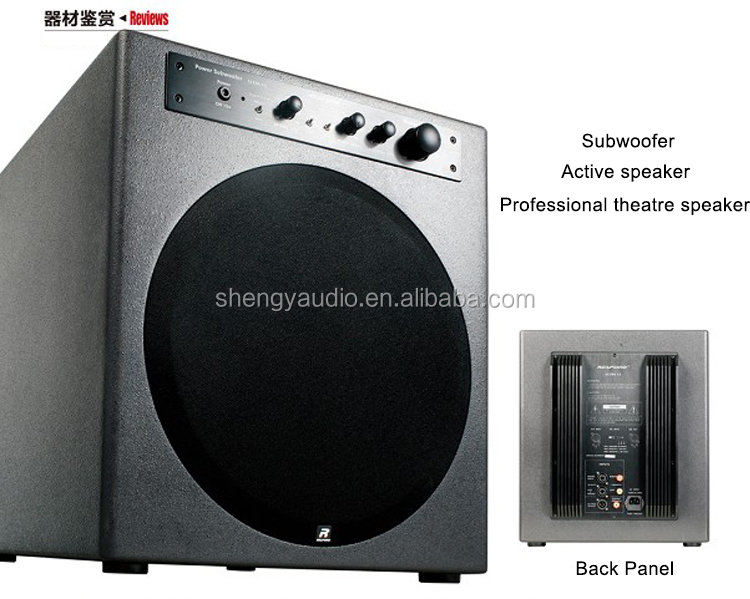 Custom 1000 w Class D 12 inch enclosed active professional senior cinema home theater subwoofer sound system speaker box