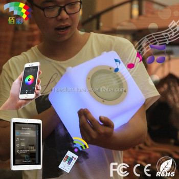 bluetooth speaker with led light/music box speaker/super music box mini speaker