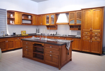 Modular solid wood kitchen cabinet unit china kitchen cabinet factory