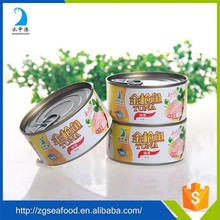 Various types of canned fish tuna can size