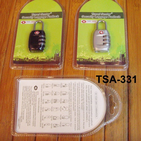 TSA-331 Alibaba wholesale international travel custom 3 digit TSA lock TSA zipper lock