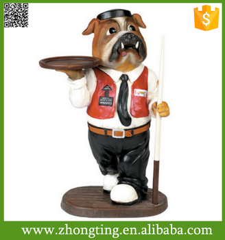 Wonderful home decoration ceramic dog interior decorative statues