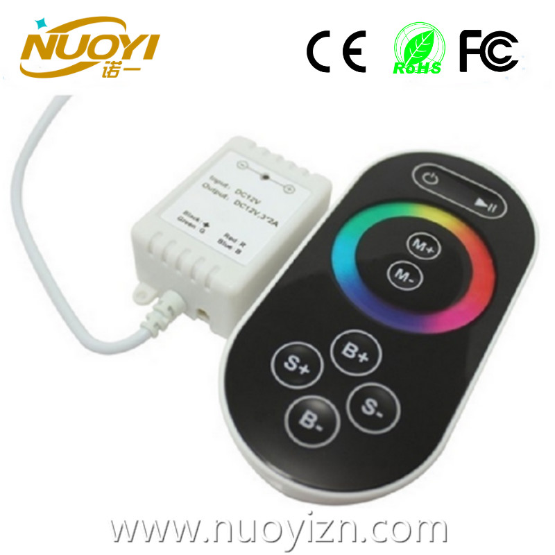 Factory price Plastic Shell RF Full touch Control easy play rgb led controller