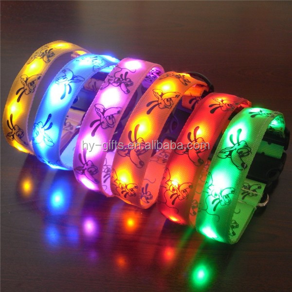 best sale luminous pet collar light up nylon led pet dog collar