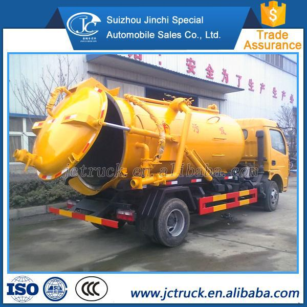 6000 liters Septic Tank best sewage truck vacuum pump suction sewage truck suction-type sewer scavenger
