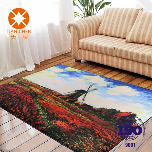 Hot selling for dubai market nonwoven material chinese knot braid carpets and rugs for living room