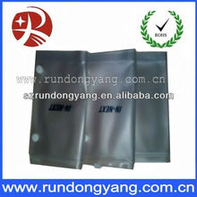 Dongguan folded plastic pvc zipper bag manufactory with button