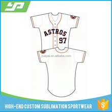 Full sublimation heat transfer digital printing youth baseball jersey