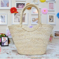100%HANDMADE PAPER STRAW BEACH BAG STOCK TOTE BAG