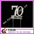 shinning crystal birthday cake decorations ideas rhinestone cake topper