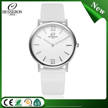 Elegance Leather Or Mesh Band Thin Custom Logo Minimal Watch Second Hand Watches