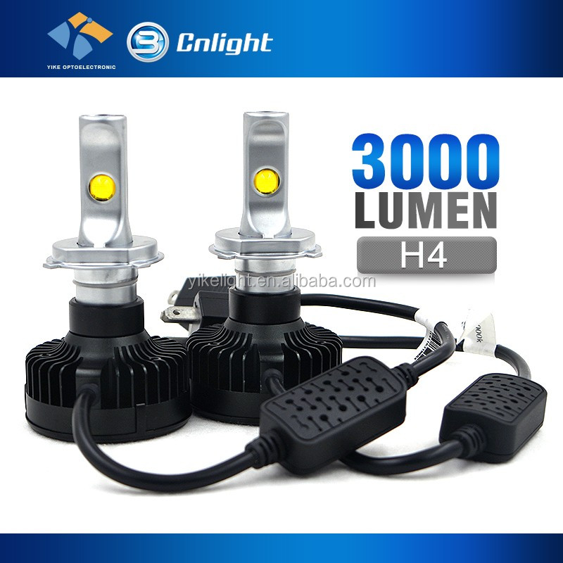 C-REE lumen replace hid kit Retrofit led headlight bi xenon kit 50w 2000 lumen h4 led headlight