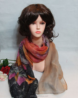 Bright colors - soft touching Silk Scarf & Poly Scarf & names of scarf