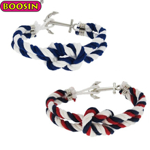 Personalized Knotted Rope Bracelet Twisted Nautical Cord Bracelet For Men Women