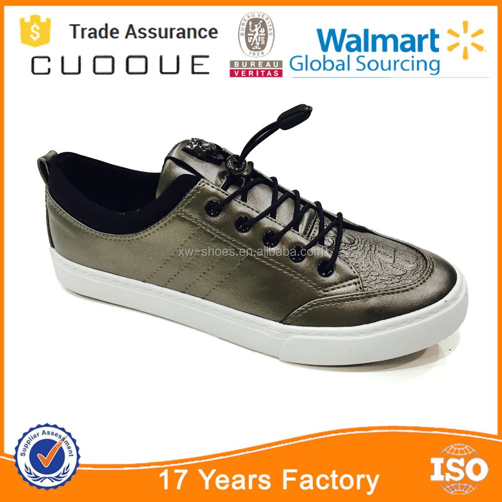 Low cut PU leather vulcanized leisure shoes for men