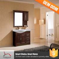 Cheap Wooden Cabinet Single Used Bathroom Vanity Cabinets