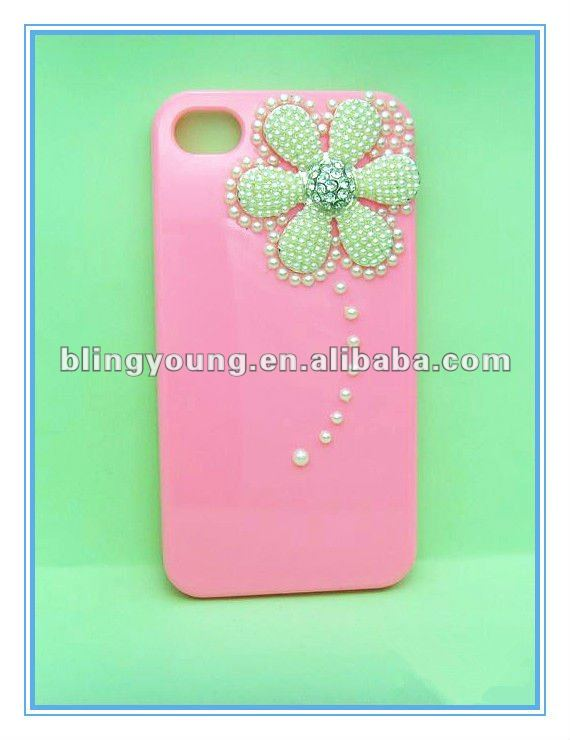 Crystal rhinestone bling diamond case for iphone 4
