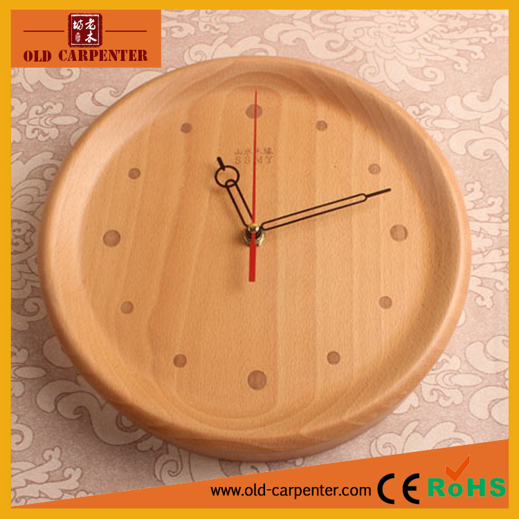 Roman numerals traditional wooden wall clock