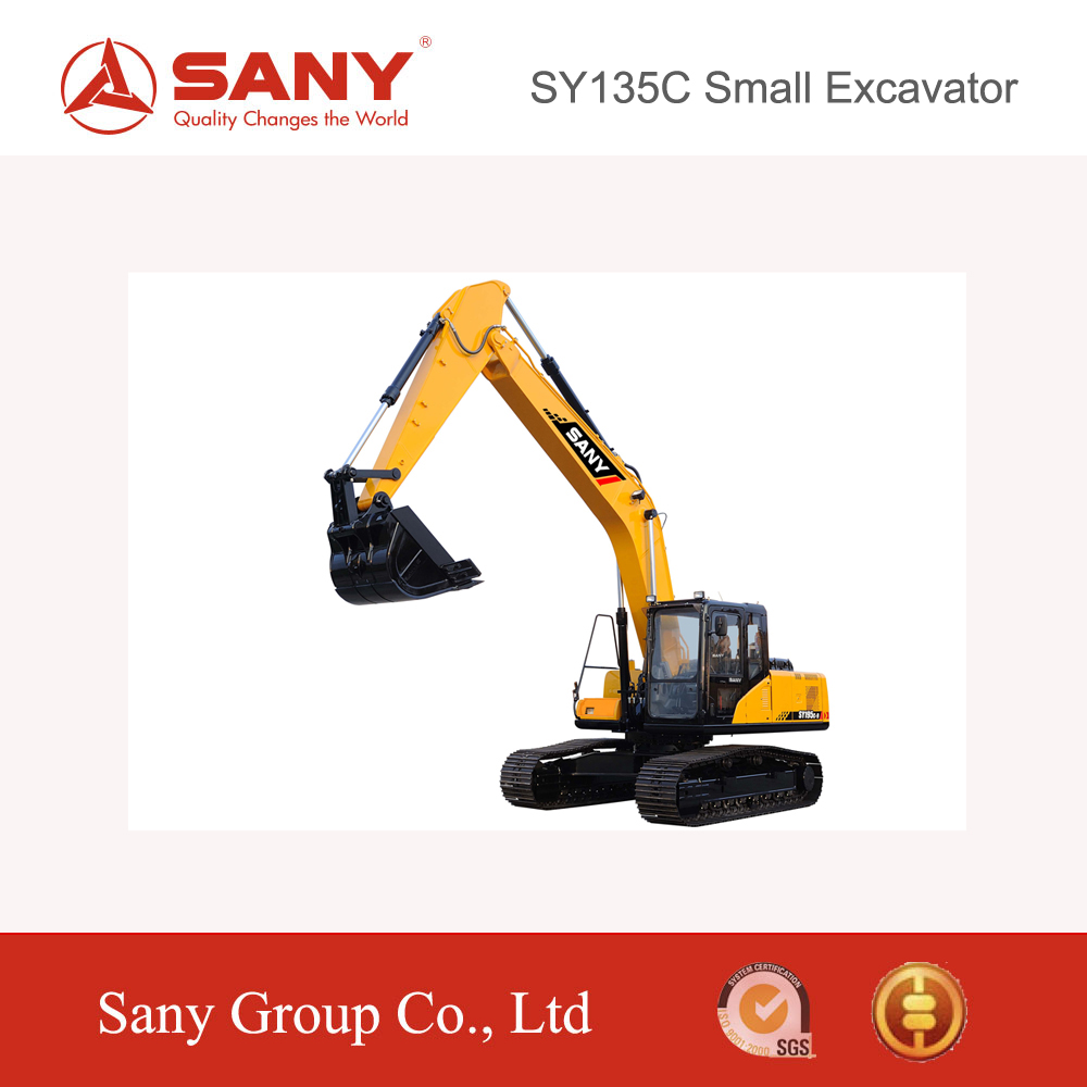 SANY SY135 13.5T Small Crawler Excavator New Digging Equipment for Sale