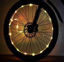 battery powered LED string light Motorcycle tire spoke wheel light