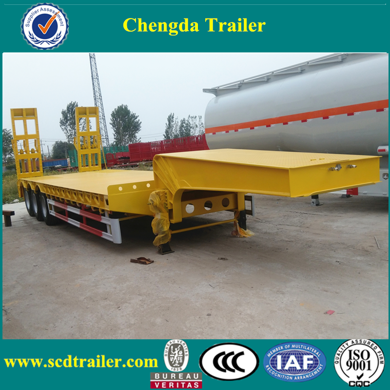 50 tons used low bed truck semi trailer dimensions and price