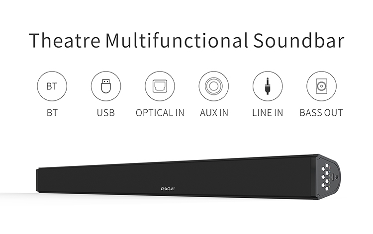 OM-SB200BT Top Quality BT Subwoofer Speaker Soundbar USB Soundbar