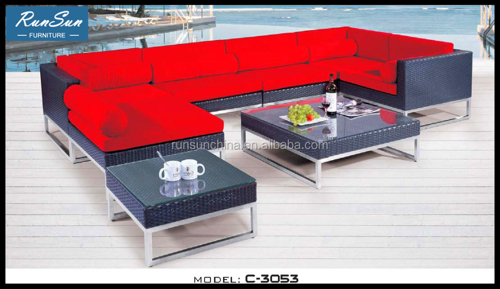 Wholesale Hot Synthetic Rattan Wicker Material Outdoor Liquidation Furniture