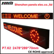 Custom size led store front signs support USB,RS232 connection