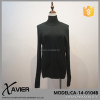 CA-14-0104B cashmere turtle neck lady sweater woven all match fashion knitted Bottoming shirt