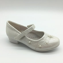gorgeous campus shoes kids elegant loafer champagne pearls wedding shoes