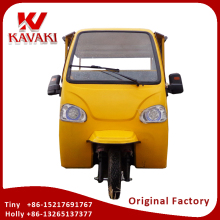 2017 Made In China Kavaki Original Factory Quality Motorized Semi Closed Cabin Passenger Tricycle Bajaj Tuk Tuk For Sales