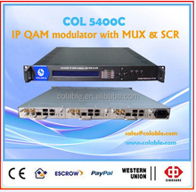 Digital channel modulator ,ip qam modulator 8 in1,RF TV Modulator COL5400C