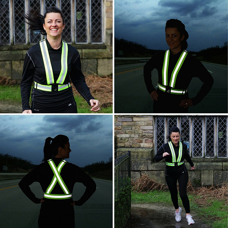 Wholesale Motorcycle Safety Vest Running Light Reflection Reflective Belt