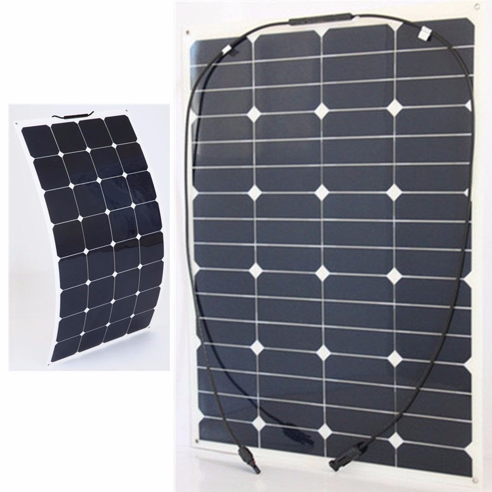 High efficiency Sunpower cell 60W 100W Semi Flexible solar panel from China