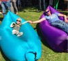 Inflatable Lounger Sofa Chair Air Sleep Camping Pads Beach Fabric Sleeping Bag Bed Lazy Outdoor Portable Furniture