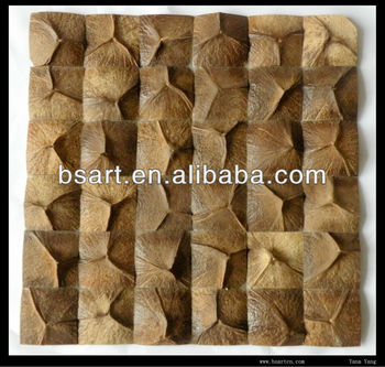 Metope adornment coconut mosaic tile