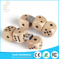 novelty wooden usb wooden dice shaped usb cheapest price woodedn usb for a gift