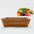 Classic cheap handwoven plastic rattan basket for fruit and vegetable