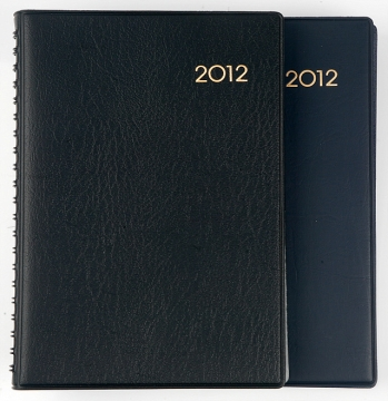 2012 gold stamping personalized leather spiral business agenda