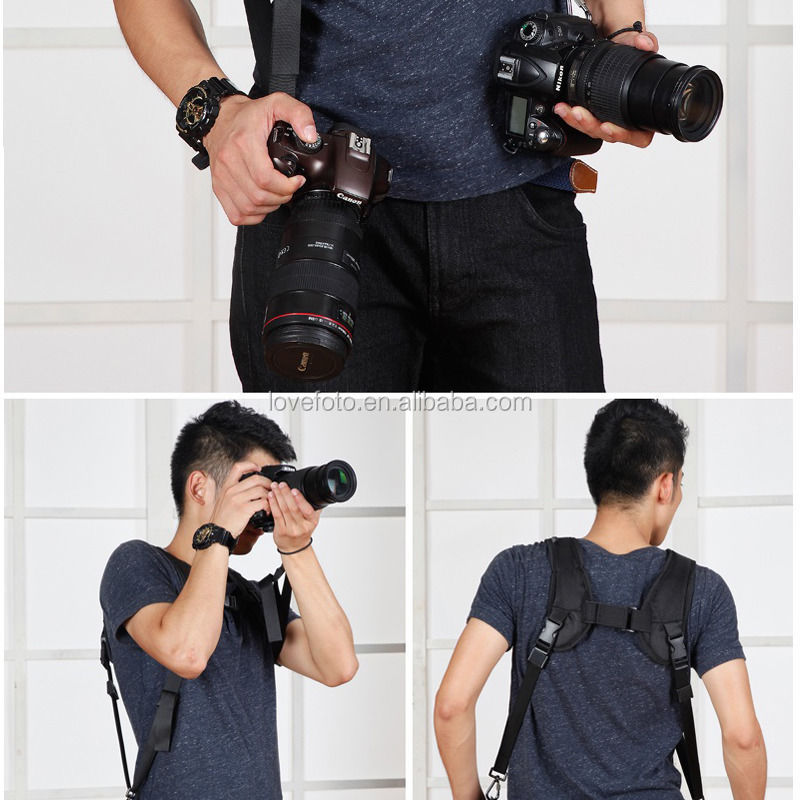 Neck Shoulder DSLR Dual Camera Sling Strap Quick Release For Sony Pentax Nikon Canon